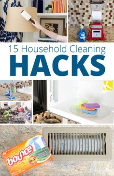 15 Brilliant Household Cleaning Hacks                                                                                                                                                     More