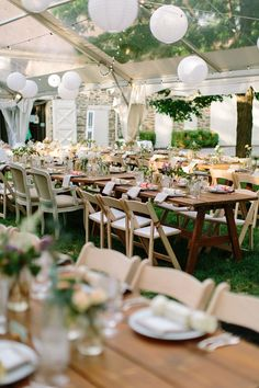 garden wedding reception, photo by The More We See http://ruffledblog.com/philadelphia-estate-wedding #weddingreception #weddingideas