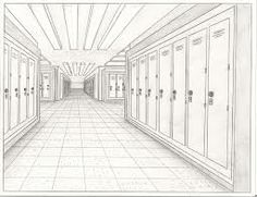 one point perspective hallway - Google Search