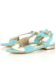 mint & glitter sandals from topshop