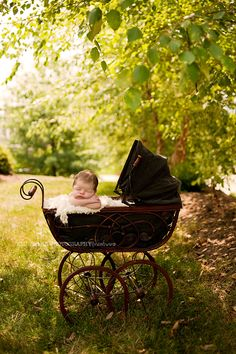 I can't wait to take my new (antique) baby buggy outside this summer!!!(Emily Ann Photography)