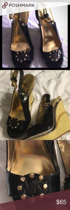Michael Michael Kors black patent wedges Michael Michael kor wedges sz 7m MICHAEL Michael Kors Shoes Wedges