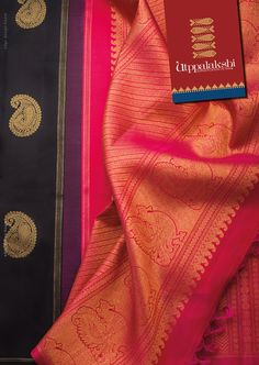 If the heavens were to hold their breath for something, it would have to be for this saree. The mysterious & ethereal black paired with stately pink pallu. The golden mango motif & peacocks that adorn the saree give it an everlasting classic touch.#Utppalakshi #Sareeoftheday#Silksaree#Kancheevaramsilksaree#Kanchipuramsilks #Ethinc#Indian #traditional #dress#wedding #silk #saree#craftsmanship #weaving#Chennai #boutique #vibrant#exquisit #pure #weddingsaree#sareedesign #colorful #elite