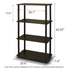Furinno 99557EXBK TurnNTube 4Tier Compact Multipurpose Shelf EspressoBlack ** Check out this great product.