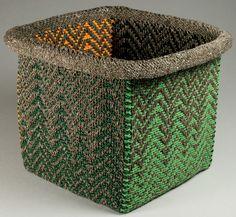 Barbara Walker | 'Woven Together-Firestorm' (2013). Woven vessel.