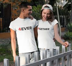 Forever Together Shirts, Couples T-shirts, Matching Shirts, Couples shirts, Pärchen t-shirts, Anniversary Shirts, Valentines T-shirts