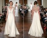 Jenny Packham Fall 2013 Elegant Short sleeves Bridal Dress