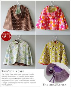 cape/poncho met capuchon Cool website for PDF sewing patterns. Seriously cute stuff here. Sewing Kids Clothes, Sewing For Kids, Baby Sewing, Doll Clothes, Sewing Patterns Free, Clothing Patterns, Free Sewing, Sewing Hacks, Sewing Crafts