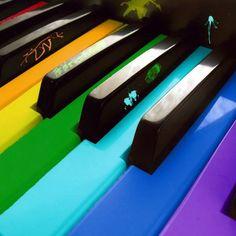 Multi-colored piano keys!