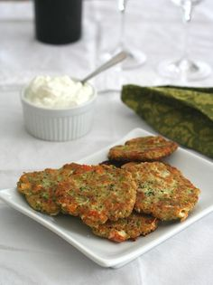 Low Carb Zucchini Fritter Recipe | Skip the feta and yogurt to make it paleo