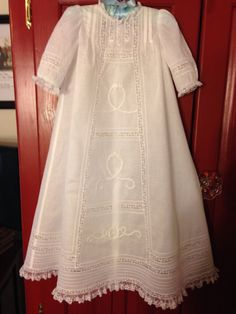 Items similar to Christening Gown on Etsy Christening Gowns For Boys, Baptism Dress, Baby Blessing Dress, Baby Dress, Kurti Styles, First Communion Dresses, Heirloom Sewing, Antique Clothing, Short Sleeve Dresses