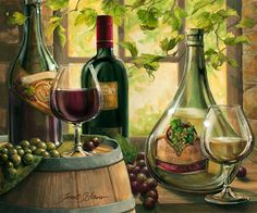 """""""Wine by the Window II""""   by Janet Stever"""
