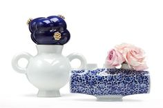 Series of vases 'Delft Blue', Marcel Wanders for Mooi, 2008