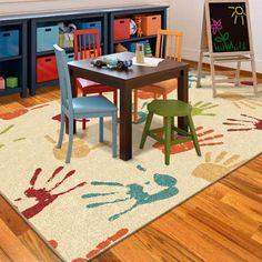 Delicieux Orian Handprints Fun Kidsu0027 Area Rug X   Ideal For Bedroom Or Playroom