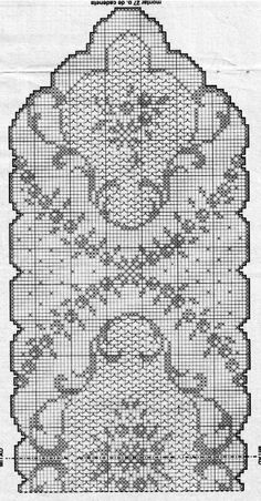 Filet Crochet Charts, Crochet Doily Patterns, Crochet Doilies, Crochet Lace, Crochet Stitches, Cross Stitch Patterns, Crochet Table Runner, Crochet Tablecloth, Lace Stencil