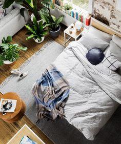 Lofts de hipsters : indus' récup' et plantes || Le loft aménagé par la marque Hunting for George