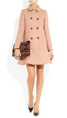 Moschino flared bouclé-wool peacoat