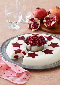Vanilla Cream with Pomegranate-Raspberry Stars -- When you bring this dessert to…
