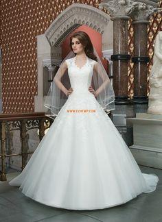 Jardin / Extérieur Col boule Bonnet Robes de mariée de luxe