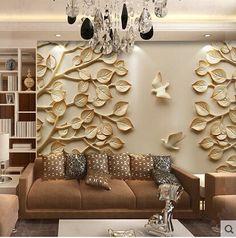 3D Wallpaper Bedroom Mural Roll Modern Luxury Embossed flowers