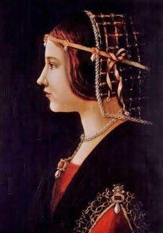 Attributed to Giovanni Ambrogio de Predis (Italian artist, active 1472-1508) Portrait of a Lady 1490