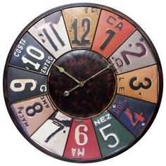 Time Travels Wall Clock Infinity Instruments Wall Mounted Clock Clocks Home Decor