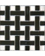 Impressions Weave Black Mosaic 14x14