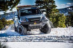Here Kande is demonstrating here stunt driving skills in the snow, she had a ball . Land Cruiser 120, Toyota Land Cruiser Prado, Fj Cruiser, Lexus Gx470, Adventure Photography, Stunts, Car Parts, Monster Trucks, Ham Radio