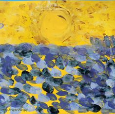 Vincent Van Gogh Sunset on the Fields painting activity for kids