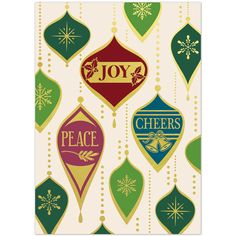 Retro Ornaments Christmas Card | On The Ball Promotions