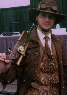 Wondering what is Steampunk? Visit our website for more information on the latest with photos and videos on Steampunk clothes, art, technology and more. Steampunk Boy, What Is Steampunk, Steampunk Cosplay, Steampunk Clothing, Steampunk Fashion, Steampunk Weapons, Renaissance Clothing, Gothic Fashion, Men's Fashion