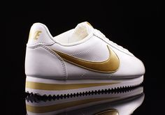 The Nike Cortez in Pristine White and Gold - SneakerNews.com