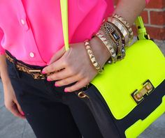 neon and arm candy!