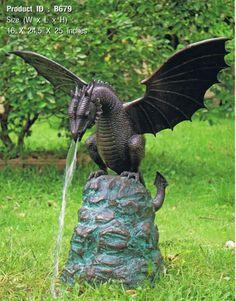 Bronze Fountains & Statues - Bronze Dragon Statues
