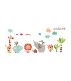 Vinilo infantil animales selva