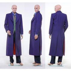 Batman Dark Knight Cosplay Joker Purple Wool Trench Coat Costumes
