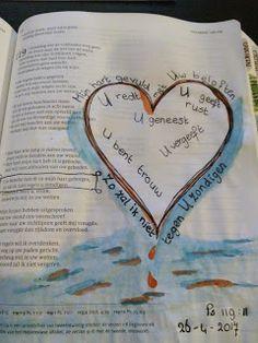 Schrijfgelukjes: SchrijfBijbel Psalm 119:11 en Bible journalen met kindjes