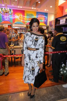 The stunning Sameera Reddy looking absolutely resplendent at our grand celebration of Kiehl's at Palladium.