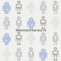 Robots behang DL30723, Hoopla van Dutch Wallcoverings