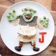 Mãe transforma almoços do filho em obras de arte para que ele coma mais vegetais…