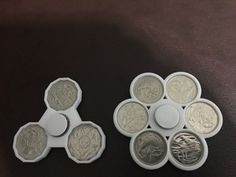 Aussie Twenty & Fiddy Cent Fidget Toys by boompy Fifty Cent, Super Glue, Printer, Coins, 3d Printing, Centre, Scale, Board, Impression 3d