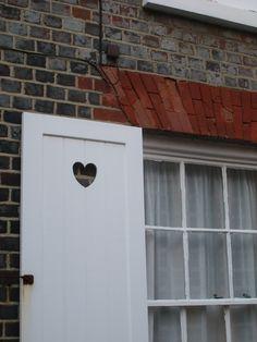 little heart carved in shutters