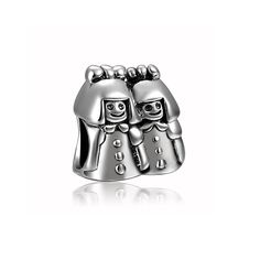 Happy Sister Charm 925 Sterling Silver Fit All Brands