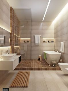 Luxury Master Bathroom Ideas is completely important for your home. Whether you choose the Small Bathroom Decorating Ideas or Small Bathroom Decorating Ideas, you will create the best Luxury Master Bathroom Ideas Decor for your own life. Bathroom Spa, Bathroom Renos, Bathroom Interior, Natural Bathroom, Spa Inspired Bathroom, Bathroom Goals, Teak Bathroom, Bathroom Lighting, Bathroom Remodeling