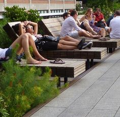 Seating Along Path at The High Line