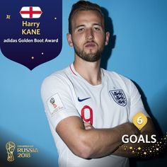 Harry Kane win's his first World Cup golden boot.