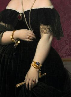 Madame Moitessier, by Jean Auguste Dominique Ingres, detail (1851).