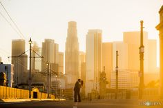Downtown Los Angeles Engagement | Amy