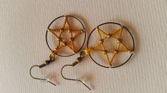 Boucles d'oreille en forme d'étoile à 5 branches : Boucles d'oreille par dalhyna-s-world