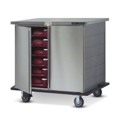 Dinex Deluxe Tray Delivery Carts are available in a variety of configurations —all are Stainless Steel construction and are built to transport hot meals quickly and quietly while delivering maximum value and efficiency to your facility.